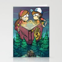 gravity falls Stationery Cards featuring Gravity Falls by Dinolich