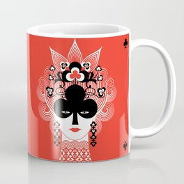 The Queen of clubs Coffee Mug