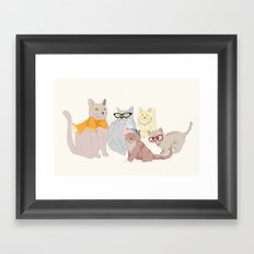 Accessory Cats Framed Art Print