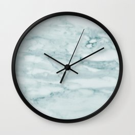 Marble Pale Teal Sea Green Marble Wall Clock