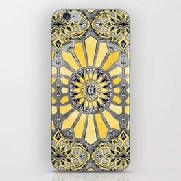 Sunny Yellow Radiant Watercolor Pattern iPhone Skin