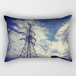 Heavenly spring sky in an industrial world Rectangular Pillow