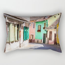 Multi Coloured Cottages Rectangular Pillow