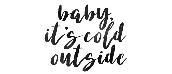 It's Cold Outside Holiday Minimalism Coffee Mug