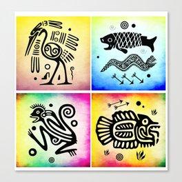 Tribal Symbols 02 Canvas Print