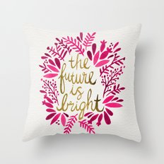The Future is Bright – Pink & Gold Throw Pillow