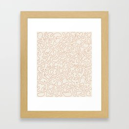 Puzzle Drawing #2 Gold Framed Art Print