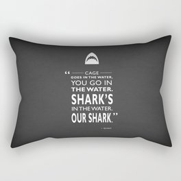 Sharks In The Water Rectangular Pillow