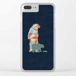 Geo Bear Clear iPhone Case