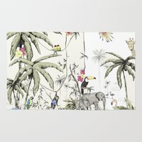 jungle Area & Throw Rugs featuring Jungle by Annet Weelink Design