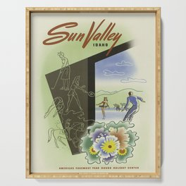 Vintage poster - Sun Valley, Idaho Serving Tray