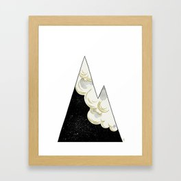 White as Milk, Red as Blood: Mountain Framed Art Print