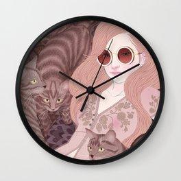 Hey there kitty! TAN Wall Clock