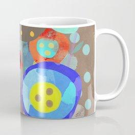 Blue Polka Dots - Ruth Fitta-Schulz Watercolour Art 2017 Coffee Mug
