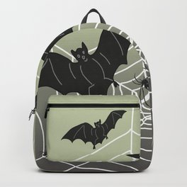 Bats with Spider Web in Background Backpack