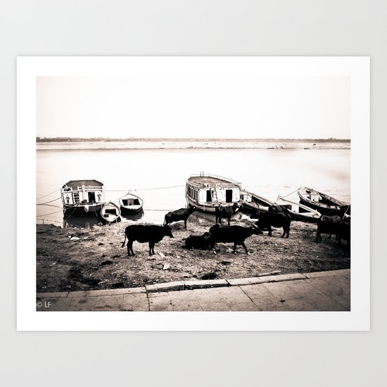 Along the Ganga Art Print