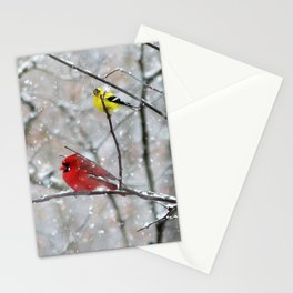 Goldfinch and Cardinal Stationery Cards