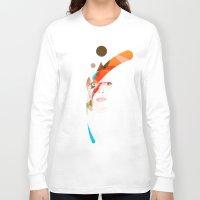 aladdin Long Sleeve T-shirts featuring Bowie - Aladdin Sane by lazylaves
