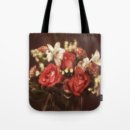 Old World Bouquet Tote Bag
