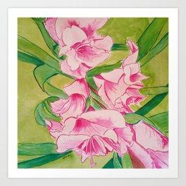 Her Mother's Gladiolus Art Print