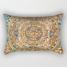 Buddhist Mandala Five Circles Mudra Rectangular Pillow