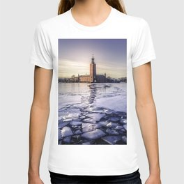 Stockholm City Hall in Winter T-shirt