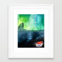 milky way Framed Art Prints featuring Milky Way by Jonas Claesson