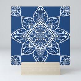 Turquoise Lotus Tribe Mini Art Print