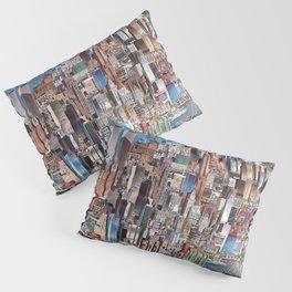 Retro Illustration of New York City Pillow Sham