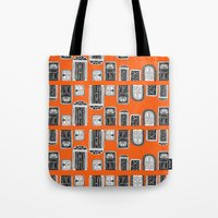 doors Tote Bags featuring Doors by MJOillustration