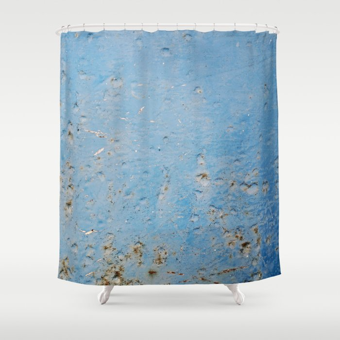 Blue Stone Shower Curtain