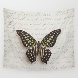 Graphium agamemnon butterfly Wall Tapestry