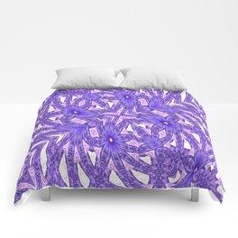 Ultra Violet In My Garden Comforters
