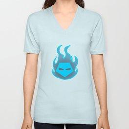 Hot Headed (Blue) Unisex V-Neck