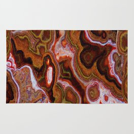 Earth Tones Abstract by Lena Owens Rug