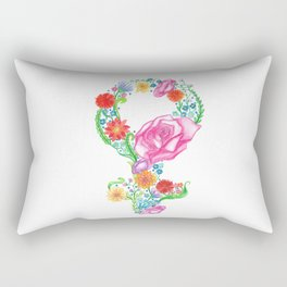 Femininity in Bloom Rectangular Pillow