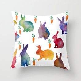 Rabbits Throw Pillow