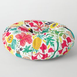 tropical botanical Floor Pillow