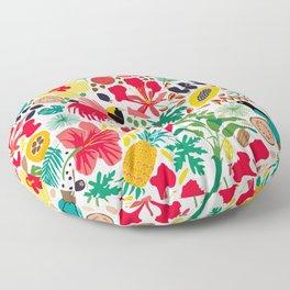 tropical botanical Floor Pillow