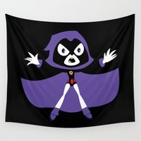 raven Wall Tapestries featuring Raven by Adrian Mentus