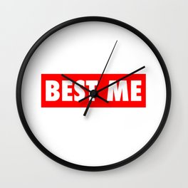 Best Me Fitness Gym Workout Motivational Wall Clock