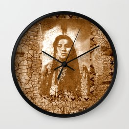 Not So Colorful Past Wall Clock