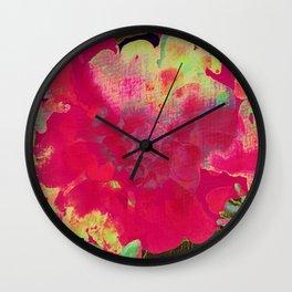 big abstract flower Wall Clock