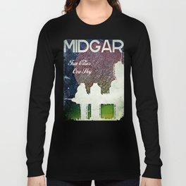 Final Fantasy VII - Midgar Tribute Poster *Distressed* Long Sleeve T-shirt