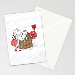 gingerbread home Stationery Cards