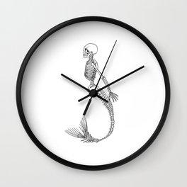 Mermaid Skeleton Wall Clock