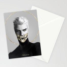 7 sins: Wrath Stationery Cards