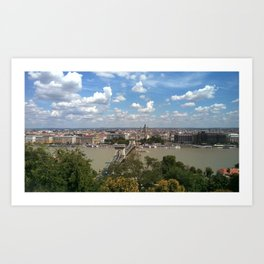 Budapest /Danube River/ Summer/ sunshine Art Print