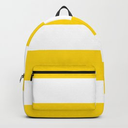 Sunshine Yellow and White Stripes Backpack