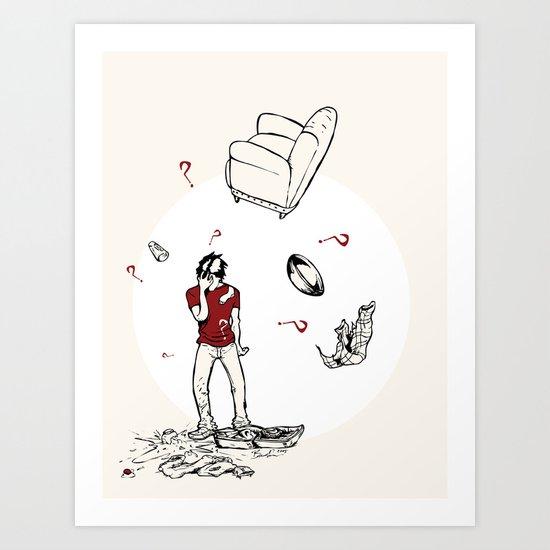 The Breakup Art Print